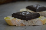 Comfort me with Chocolate Toast with Olive Oil and Sea Salt