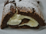 Chocolate Roulade with Orange Blossom Whipped Cream