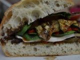 Roasted Vegetable Sandwiches with Bell Peppers, Zucchini, and Fresh Mozzarella