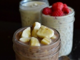 Vegan Refrigerator Oatmeal with Chia Seeds